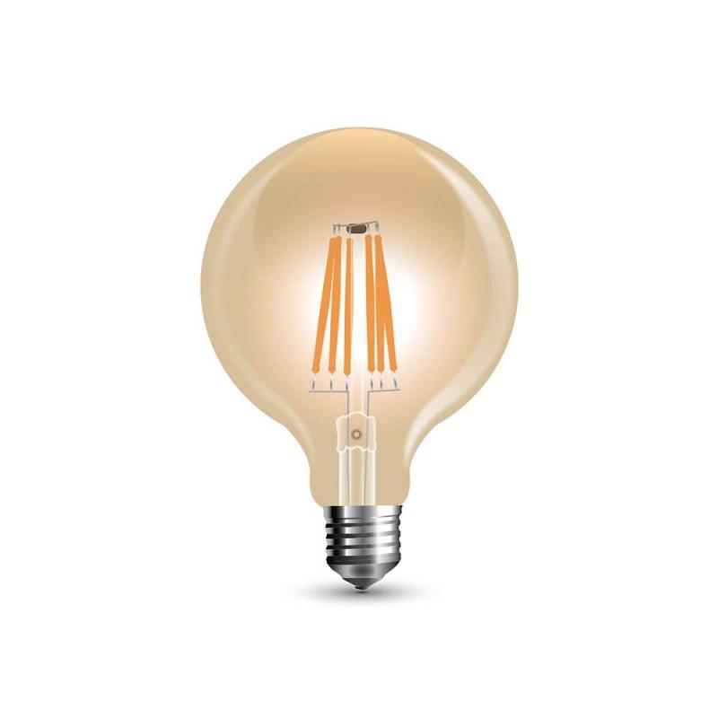 Bombilla dorada LED Globo Pequeño G80 de 4W decorativa vintage 2200ºK