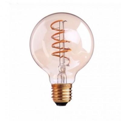Bombilla Dorada LED Globo G95 filamento Espiral de 4W Decorativa vintage 2700K