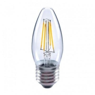 Bombilla clara LED Vela filamento recto de 4W para socket E27 - 2700ºK