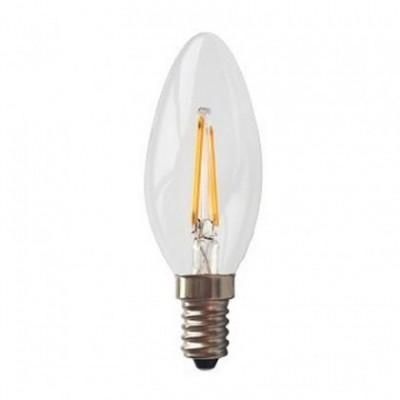 Bombilla clara LED Vela de 4W con filamento recto para socket E14 color de la luz: cálida 2700ºK