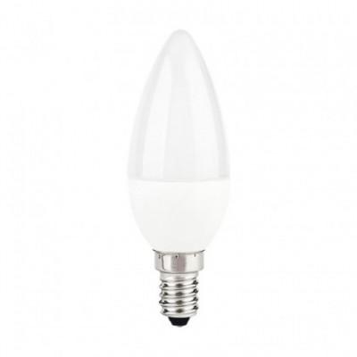 Bombilla blanca LED Vela C37 de 5W para socket E14 luz cálida 3000ºK - LCO019
