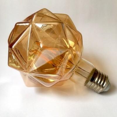 Bombilla decorativa LED G95 facetada de 4W luz cálida 2200K