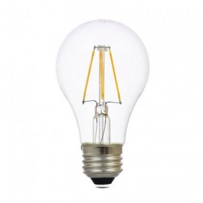 Bombilla clara A60 estándar de 4W luz cálida 3000K