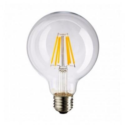 Bombilla clara LED globo G80 de 4W luz cálida 2700K