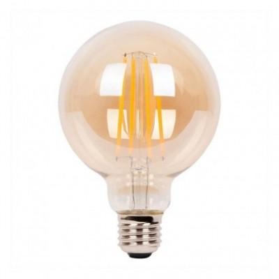 Bombilla ambar LED globo G95 de 4W luz cálida 2200K