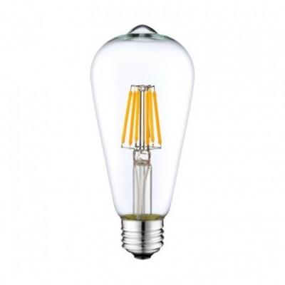 Bombilla traslúcida LED ST64 de 6W luz cálida 2700K