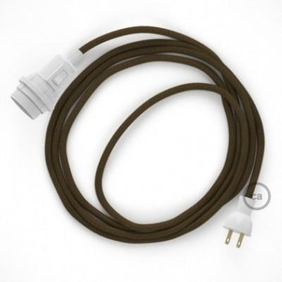 Crea tu Snake para pantalla con cable de Algodón Café RC13, socket y enchufe, y trae la luz donde tu quieras.