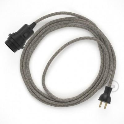 Crea tu Snake para pantalla con cable de Rombos Verde Tomillo RD62, socket y enchufe, y trae la luz donde tu quieras.