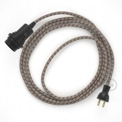 Crea tu Snake para pantalla con cable de Rombos Corteza RD63, socket y enchufe, y trae la luz donde tu quieras.