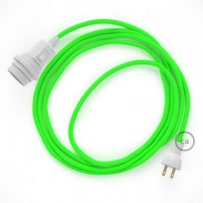 Crea tu Snake para pantalla con cable Fluorescente Verde RF06, socket y enchufe, y trae la luz donde tu quieras.