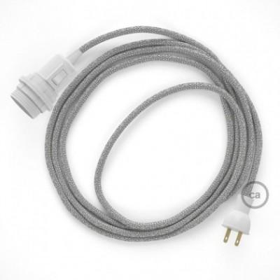 Crea tu Snake para pantalla con cable Brillante Plateado RL02, socket y enchufe, y trae la luz donde tu quieras.