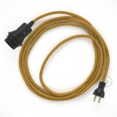 Crea tu Snake para pantalla con cable Brillante Dorado RL05, socket y enchufe, y trae la luz donde tu quieras.