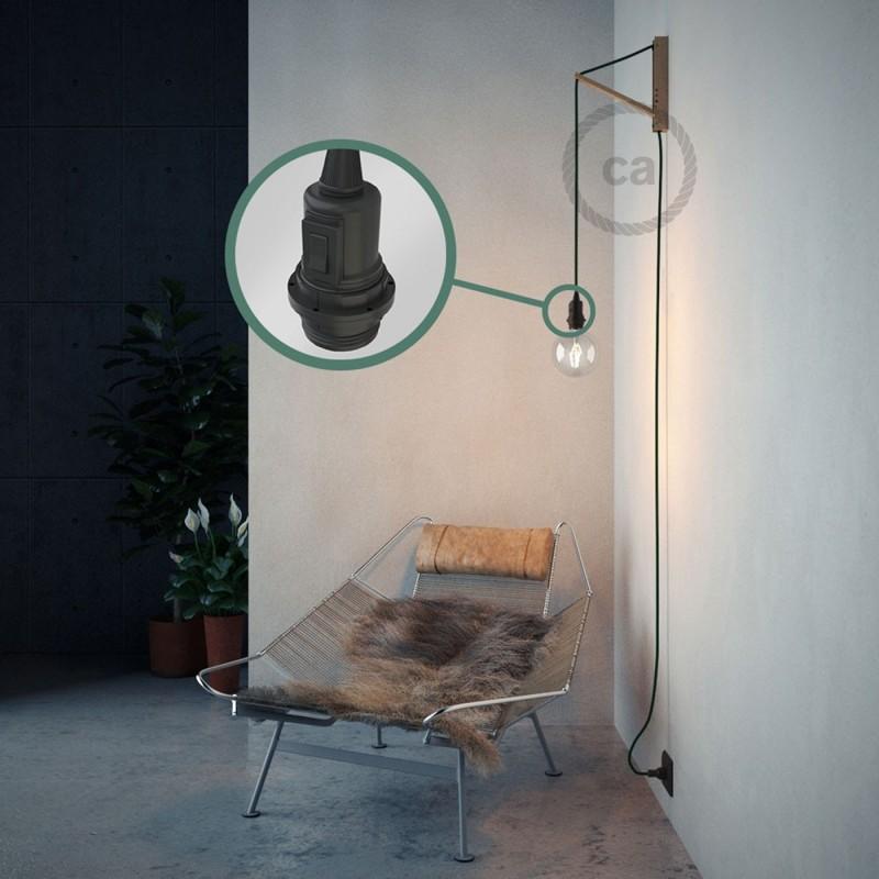 Crea tu Snake para pantalla con cable de Rayón Verde Oscuro RM21, socket y enchufe, y trae la luz donde tu quieras.