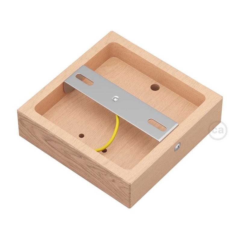 Base cuadrada para Archet(To) en madera natural