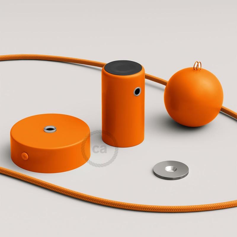 Magnetico®-Pendel Naranja, luminaria de suspensión con socket magnético orientable y portatil