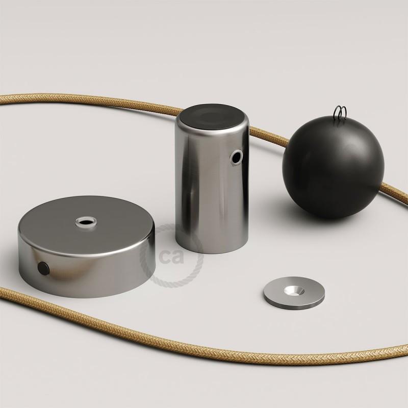 Magnetico®-Pendel Metal Satinado, luminaria de suspensión con socket magnético orientable y portatil