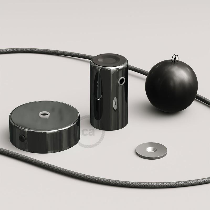 Magnetico®-Pendel Cromo Oscuro, luminaria de suspensión con socket magnético orientable y portatil