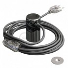 Magnetico®-Plug Cromo Oscuro, socket magnético listo para usar