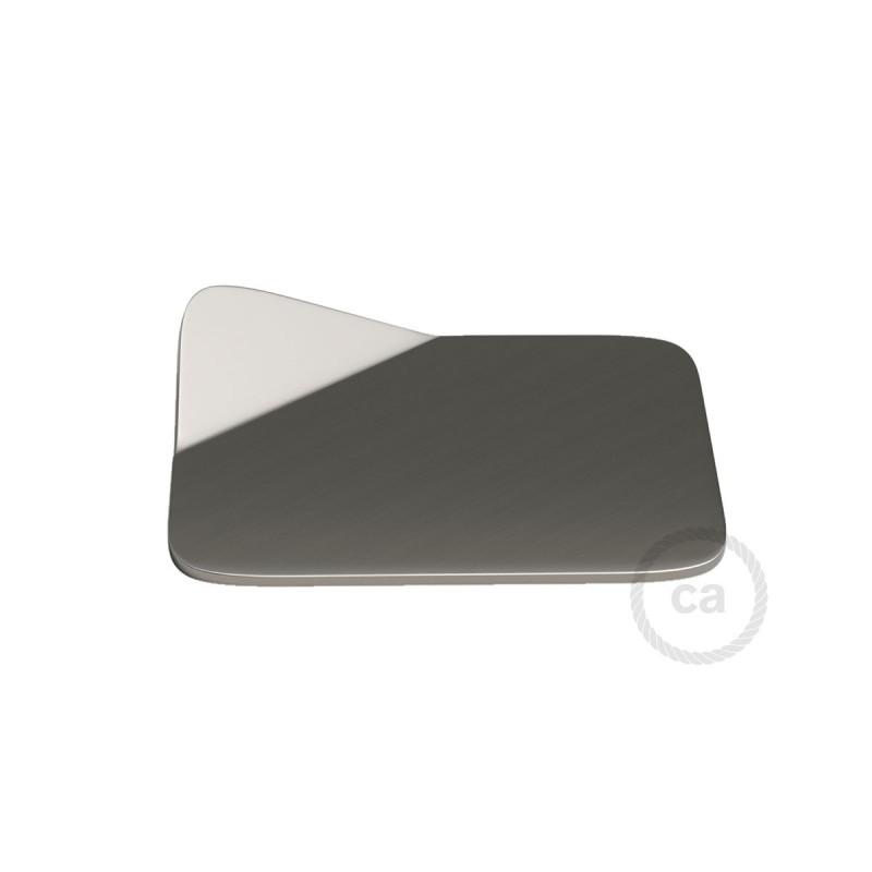 Magnetico®-Base Metal Satinado, base metalica superficie plana para Magnetico®-Plug