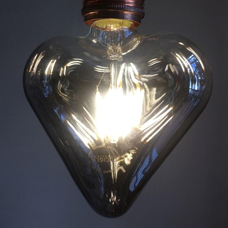 Bombilla LED Corazón Smokey 4W E27 Decorativa 2200K