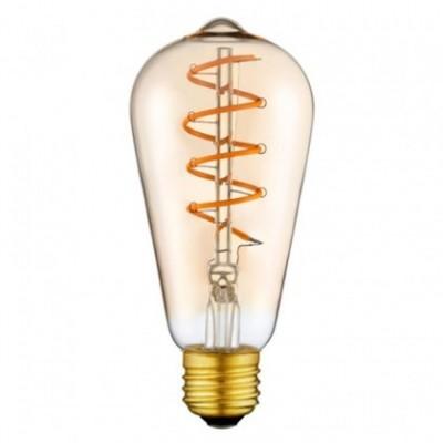 Bombilla dorada LED Edison ST64 filamento en espiral 3W 2200K - LCO041