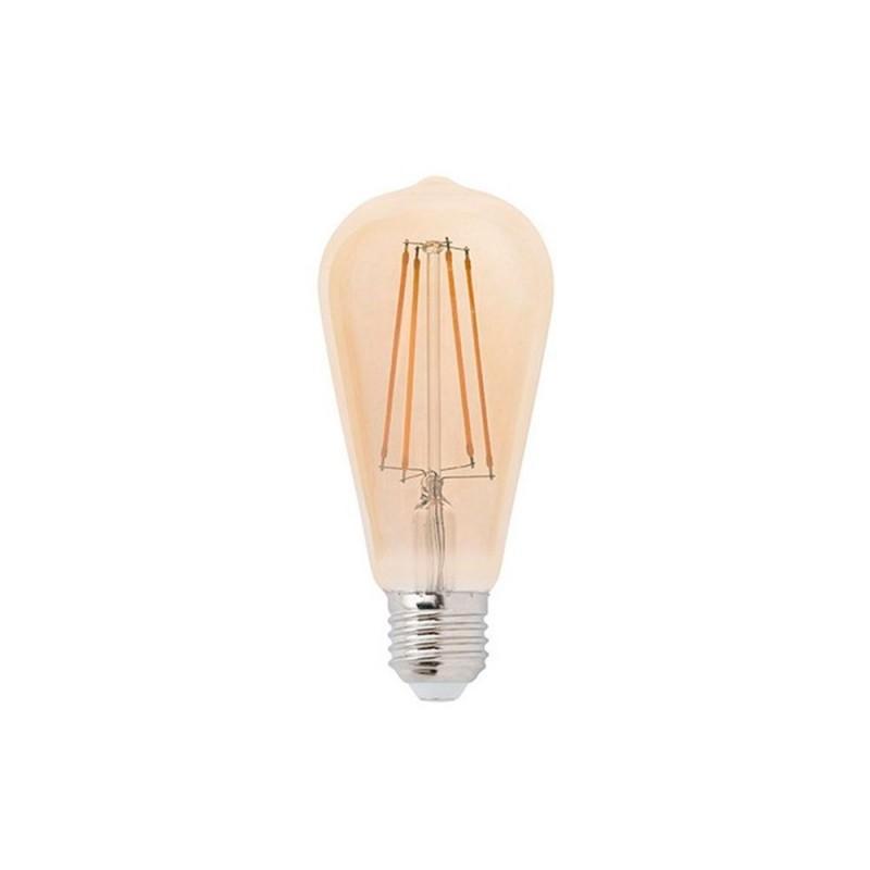 Bombilla LED Edison ST64 filamento recto 4W luz cálida 2200K