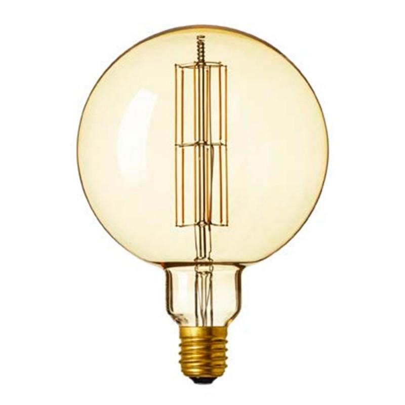 Bombilla dorada LED Globo G200 filamento largo 12W decorativa vintage 2300K