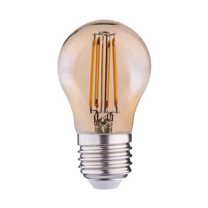 Bombilla dorada Globo de 45mm ping-pong G45 DIMERIZABLE de filamento recto 4w luz cálida 2700K