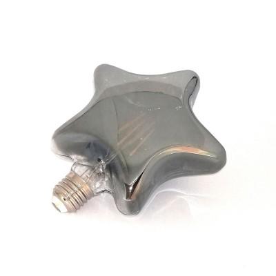 Bombilla smokey LED en forma de Estrella D143 4W decorativa vintage 2200K
