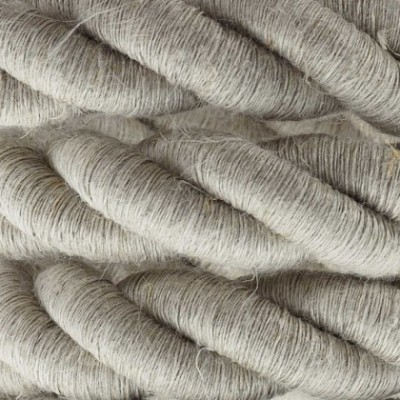 Cordón 2XL, cable eléctrico 3x0,75, recubierto en lino natural. Diámetro: 24mm.