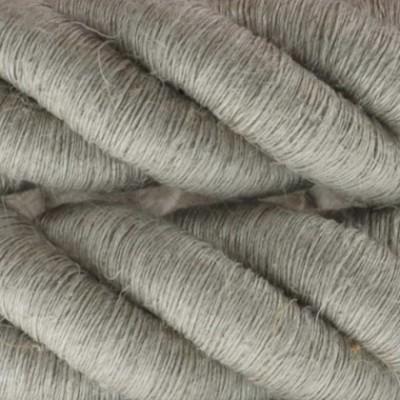 Cordón 3XL, cable eléctrico 3x0,75, recubierto en lino natural. Diámetro: 30mm.