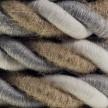 Cordón 2XL, cable eléctrico 3x0,75. Revestimiento de yute, algodón y lino Country. Diámetro: 24mm.