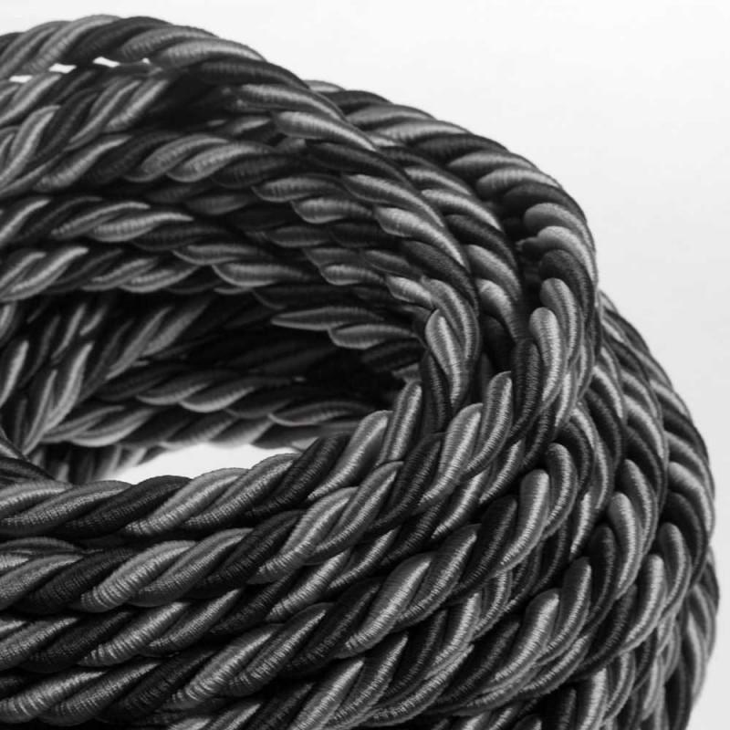 Cordón XL, cable eléctrico 3x0,75. Revestimiento de tejido lucído Orleans. Diámetro: 16mm.