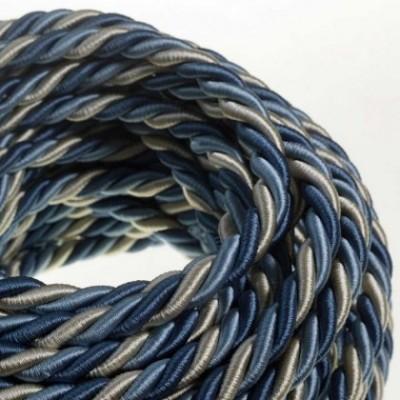 Cordón XL, cable eléctrico 3x0,75. Revestimiento de tejido lucído Bernadotte. Diámetro: 16mm.
