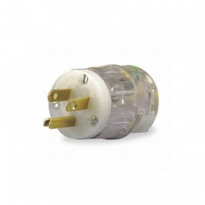Clavija blanca/transparente para Guirnalda - SPCO2-3PT