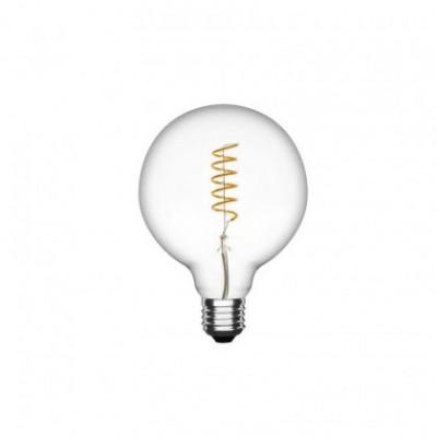 Bombilla clara LED Globo G95 filamento Espiral de 3W Decorativa vintage 2700ºK - Dimerizable
