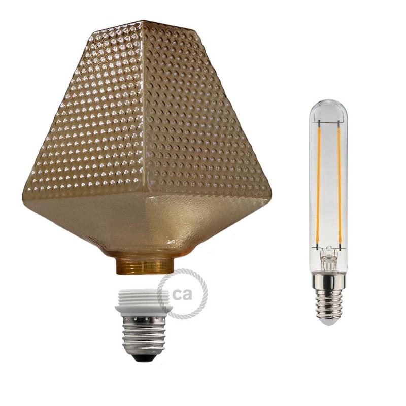 Bombilla Decorativa Modular LED G160 Farol Fumè de 5W de luz cálida