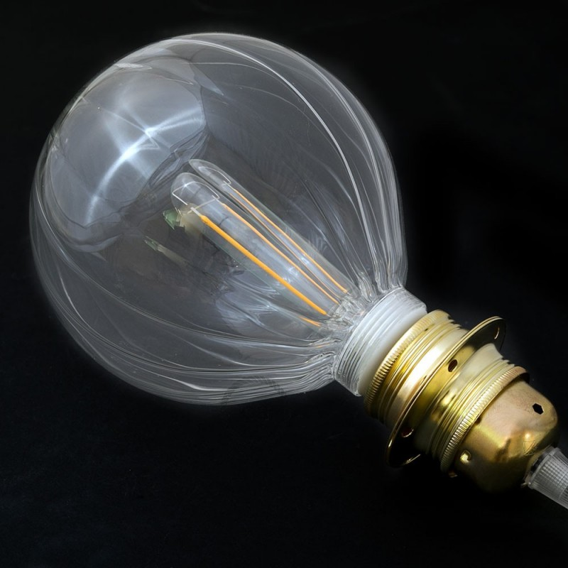 Bombilla Decorativa Modular LED G125 en vidrio trasparente silueta globo de 5W en luz cálida - KG125140SLFC01