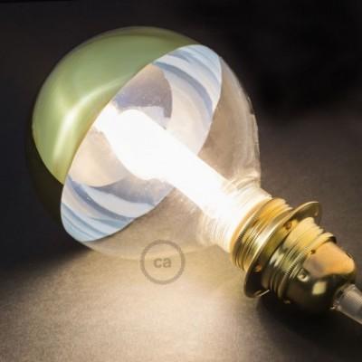 Bombilla Decorativa Modular LED G125 en vidrio semisfera oro de 5W en luz cálida - KG125140FEC138-2