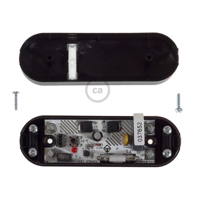 Dimmer negro con interruptor para bombillas LED y tradicionales