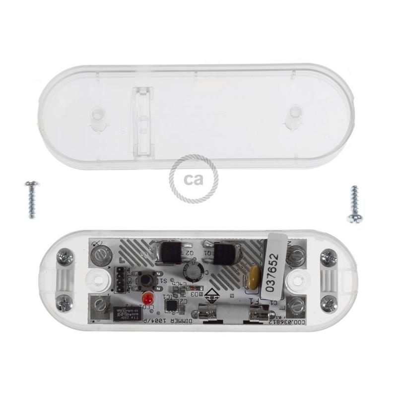 Dimmer transparente con interruptor para bombillas LED y tradicionales