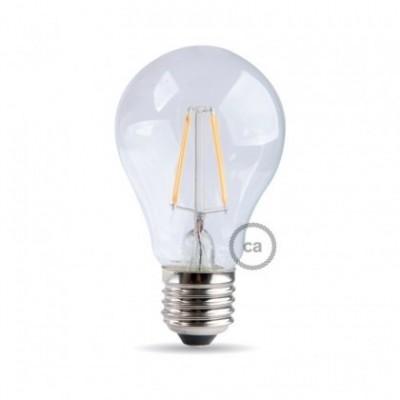 Bombilla clara filamento LED Standard A60 de 6W Luz cálida