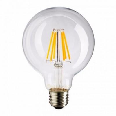 Bombilla Transparente LED Globo G95 Filamento Largo 4W E27 Decorativa Vintage 2700K