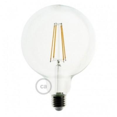 Bombilla LED vidrio transparente G125 filamento recto de 4 watt a 3000ºK- LCO066
