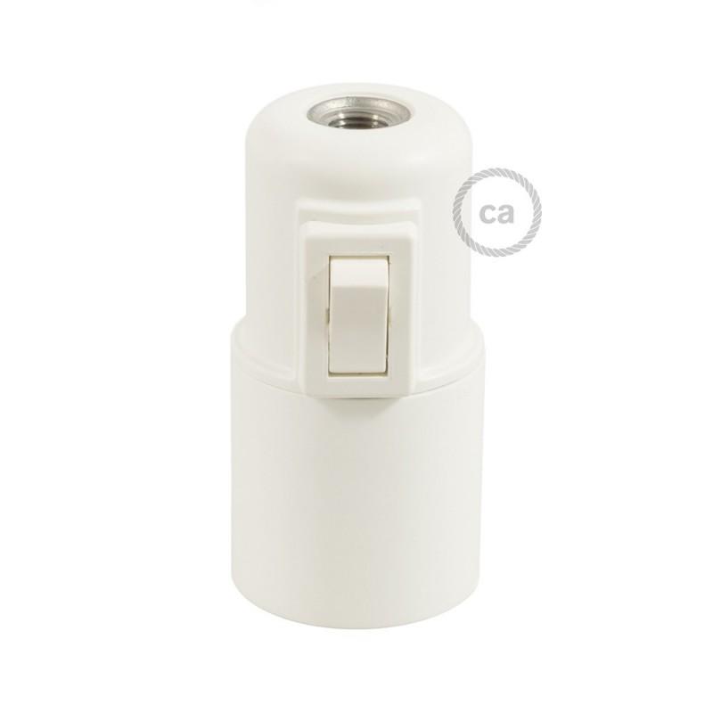 Kit portalámparas de termoplástico E27 con interruptor