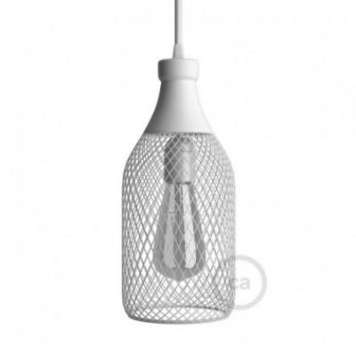 Pantalla Jaula para lámpara Botella Jéroboam de metal