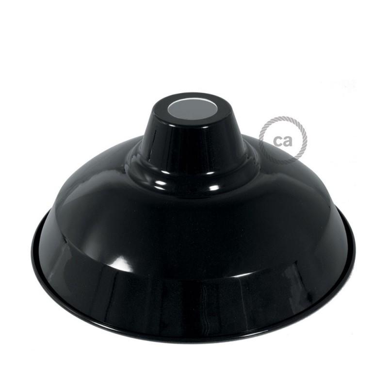 Pantalla Bistrot de metal esmaltado con casquillo E27, diámetro 30cm