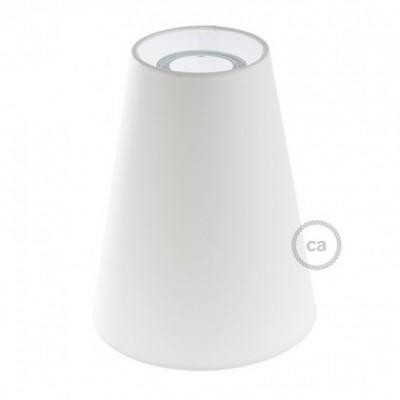 Pantalla de tela Tronco de Cono casquillo E27, diámetro 16cm H20cm - 100% Fabricado en Italia