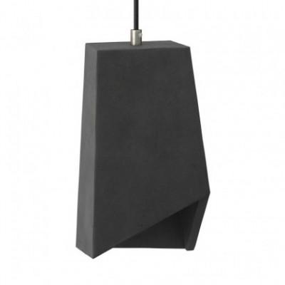 Pantalla de cemento Prisma para lámpara de suspensión, incluye portalámparas E27 y prensaestopa