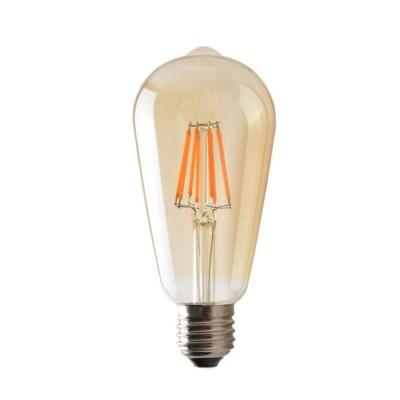 Bombilla LED ST64 Filamento Recto 5W Luz Cálida 3200K - LCO070